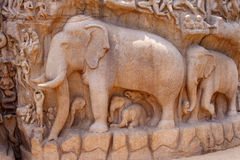 Descent of the Ganges Relief Sculpture Royalty Free Stock Image