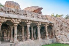 Descent of the Ganges. Temple - Mamallapuram royalty free stock photo
