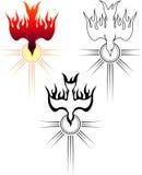 Descent of the Holy Spirit. Set of varied composition of holy symbol vector illustration