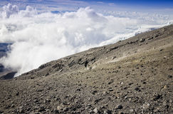 Descent from Kilimanjaro Royalty Free Stock Photo