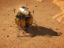 Descent Module On Surface Of Planet Mars. 3D Illustration vector illustration