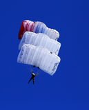 Descent by parachute Royalty Free Stock Photography