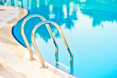 Descent into the pool Royalty Free Stock Photos