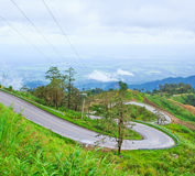 Descent road from the mountain Royalty Free Stock Photography