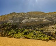 Descent of the stairs to the beach to the Pacific ocean near the. 12 apostles Stock Photo