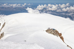 Descent from the summit of Mont Blanc Stock Photography