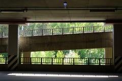 Descent to underground parking Stock Photos