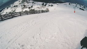 Descente au ski banque de vidéos