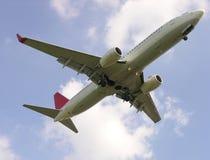 Descente d'avion Images libres de droits