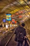 Descente dans la métro Image stock