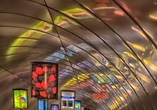 Descente dans la métro Photos libres de droits