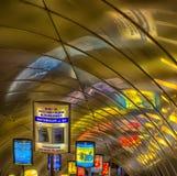 Descente dans la métro Photos stock
