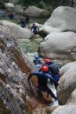 Descente de canyon Images libres de droits