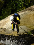 Descente de canyon Photos libres de droits