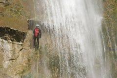 Descente de canyon Image libre de droits