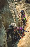Descente de canyon en France du sud Images stock
