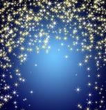 Descente de flocons de neige et d'étoiles Photo libre de droits