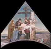 Descente de la croix image stock