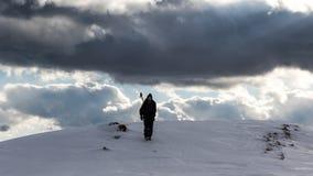 Descente de la montagne Photographie stock libre de droits