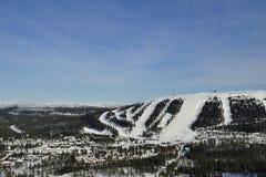 Descente de ski Photos stock