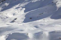 Descente de ski de montagne de Zugspitze bavaria l'allemagne photographie stock