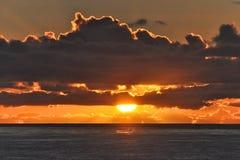 Descente de Sun Image libre de droits