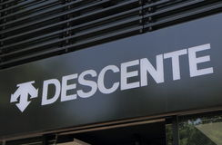 Descente sports fashion company Stock Images