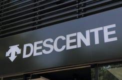 Descente trägt Modefirma zur Schau Stockbilder