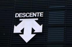 Descente trägt Modefirma zur Schau Lizenzfreies Stockfoto