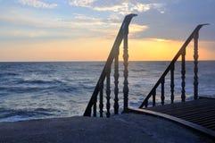 Descente vers la mer photos libres de droits