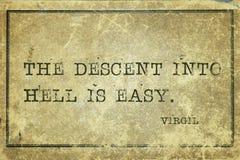 Descente Virgil Images libres de droits