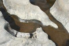 deschutes河岩石雕塑 图库摄影