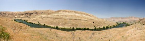 Deschutes River. Surrounded by eastern Oregon desert hills stock photos