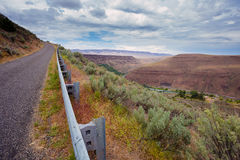 Deschutes River Canyon in Central Oregon Near Maupin Stock Images