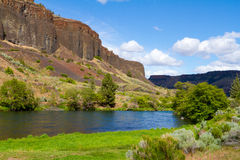 Deschutes River Canyon. Photographs from the wild and scenic section of the Lower Deschutes River canyon in Oregon near Madras in the Eastern / Central part of royalty free stock photography