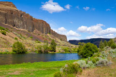Deschutes River Canyon. Photographs from the wild and scenic section of the Lower Deschutes River canyon in Oregon near Madras in the Eastern / Central part of stock image