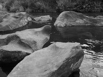 Deschutes River at Cline Falls. The Deschutes River flows through Cline Falls State Park in Central Oregon stock photo