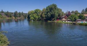 Deschutes river time-lapse stock video footage