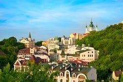 Descida de Andreevsky, Kiev, Ucrânia imagem de stock