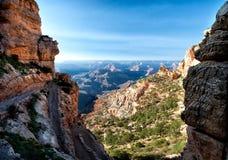 Descida em Grand Canyon Fotografia de Stock Royalty Free