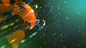 A descoberta de planetas novos ilustração royalty free