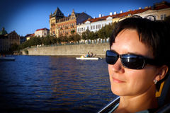 Descobrindo Praga fotos de stock