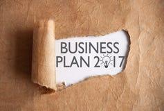Descobrindo um plano de negócios 2017 Fotografia de Stock Royalty Free