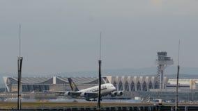 Descolagem de Airbus A380 video estoque