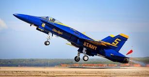 Descolagem do anjo azul Fotografia de Stock Royalty Free