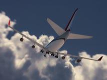 Descolagem do avião fotografia de stock