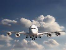 Descolagem do avião foto de stock