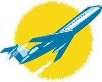 Descolagem do avião do jato Foto de Stock