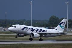 Descolagem do plano de Adria Airways imagens de stock