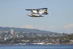 Descolagem plana do flutuador em Vancôver, Canadá Imagem de Stock